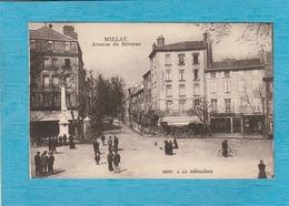 Millau. - L'Avenue De Séverac. - La Colonne. - Café-Restaurant. - Millau