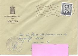 Omslag Enveloppe - Gemeentebestuur Schoten - Stempel Cachet - 1962 - Stamped Stationery