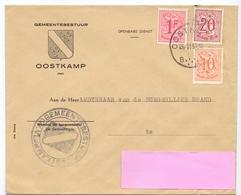 Omslag Enveloppe - Gemeentebestuur Oostkamp - Stempel Cachet - 1957 - Stamped Stationery