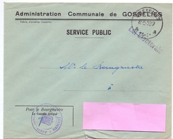 Omslag Enveloppe - Commune De Gosselies - Stempel Cachet - 1958 - Ganzsachen