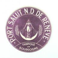 Grande Etiquette Fromage Port Salut Fabriqué Dans N. D. De Renève, Bourgogne - Fromage