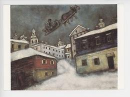 Marc Chagall : Village Russe 1887 - Coll Privée (cp Vierge) Traineau Attelé - Peintures & Tableaux