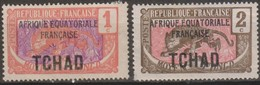 Ciad Tchad 1924 Michel N. 19+20 Part Set MH/* - Nuovi