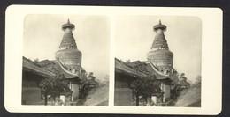 China Peking, The Umbrella Pagoda - Stereoscoop
