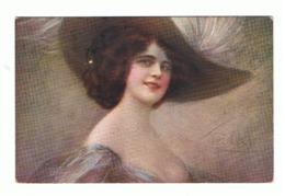 Illustrateur GUERINONI - Femme Au Chapeau à Plumes 1924 - FANTAISIE (fr74) - Guerinoni