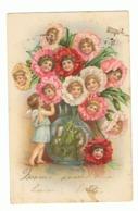 FANTAISIE - Ange, Vase, Fleur, Oeillet, Enfant - 1903 (fr74) - Anges