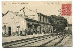 PROVINS La Gare Intérieur Animée - Provins
