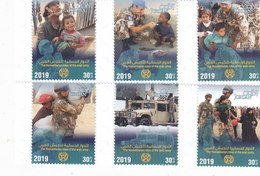 Jordan New Isue 2019,Humanitarian Roles Of Arab Army 6 Stamps Compl.set MNH- SKRILL PAYMENT ONLY - Jordan