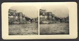 India, Benares, Palaces At The Ganges - Stereoscoop