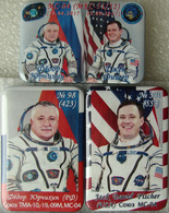 400-4 Space Russian Pins Set (3pcs). Spaceships Soyuz MS-04. ISS 51-52 Fischer - Space