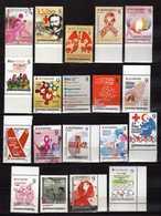 MACEDONIA LOT - 2013/2014/2015/2016/2017/2018 FULL SERIAL - 19 Stamps - RED CROSS. MNH - Macédoine