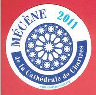 CHARTRES EURE ET LOIR 2011 MECENE SOUVENIR RESTAURATION DE LA CATHEDRALE DE CHARTRES AUTO COLLANT - Obj. 'Remember Of'