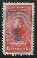 COSTA RICA 1943 1948 PORTRAIT FRANCISCO MORAZAN CENT 15c USATO USED OBLITERE' - Costa Rica