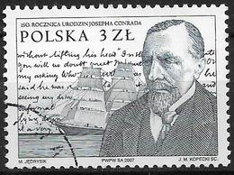 2007 Polen Mi. 4343 Used   150. Geburtstag Von Joseph Conrad. - 1944-.... Republik