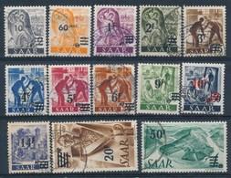 SARRE - SAAR - Mi Nr 226/238 - Gestempeld/oblitéré - Cote 130,00 € - 1947-56 Allierte Besetzung