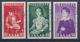 SARRE - SAAR - Mi Nr 354/356 - Gestempeld/oblitéré - Cote 6,00 € - 1947-56 Occupation Alliée