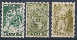 SARRE - SAAR - Mi Nr 365/367 - Gestempeld/oblitéré - Cote 7,00 € - 1947-56 Occupation Alliée
