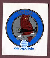 """AEROSPATIALE  : """" VIVIANE """"  Chouette - Hélicoptère - Autocollants"""