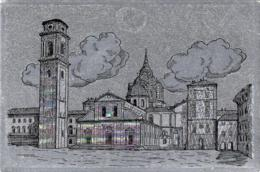 [MD3037] CPM - TORINO - IL DUOMO - LA CARTOLINA E' ARGENTATA LUCCICA - Non Viaggiata - Churches