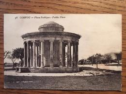 CORFOU, Place Publique, écrite En Juin 1918 - Griekenland