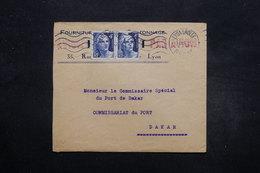 FRANCE - Enveloppe Commerciale De Lyon Pour Dakar En 1945 , Affranchissement Gandon - L 27667 - 1921-1960: Moderne