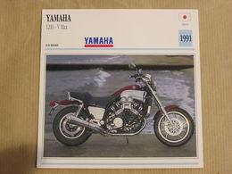 YAMAHA 1200 V Max Japon Japan 1991  Moto Fiche Descriptive Motocyclette Motos Motorcycle Motocyclette - Geïllustreerde Kaarten
