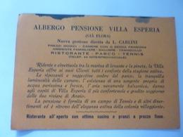 "Cartoncino Pubblicitario ""ALBERGO PENSIONE  VILLA ESPERIA ( Già Flora ) Anzio"" - Advertising"