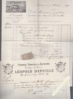 Bordeaux / Constructeur Bateau Desbats, Facture Yole 1892 Pour Voilier Berthe +  Fabrique Avirons / - 1800 – 1899