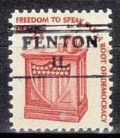 USA Precancel Vorausentwertung Preo, Locals Illinois, Fenton 872 - Vereinigte Staaten