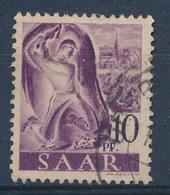 SARRE - SAAR - Mi Nr 210 III   - PLATTENFEHLER -  Gestempeld/oblitéré - Cote 25,00 € - 1947-56 Occupation Alliée