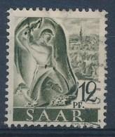 SARRE - SAAR - Mi Nr 211 II   - PLATTENFEHLER -  Gestempeld/oblitéré - Cote 15,00 € - 1947-56 Occupation Alliée