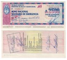 Argentina 2500 Australes 1989 AUNC - Argentina