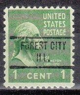 USA Precancel Vorausentwertung Preo, Locals Illinois, Forest City 734 - Vereinigte Staaten