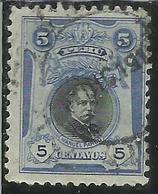 PERU' 1918 MANUEL PARDO CENT. 5c USATO USED OBLITERE' - Perù