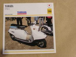 YAMAHA 175 SC 1 Scooter  Japon Japan 1960  Moto Fiche Descriptive Motocyclette Motos Motorcycle Motocyclette - Picture Cards