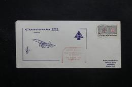IRAN - Enveloppe Du Concorde  , Vol Téhéran / Bahreïn En 1974 - L 27674 - Iran