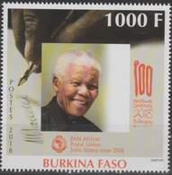 Burkina Faso 2018 Nelson Mandela Joint Issue Emission Commune Gemeinschaftsausgabe, Mnh - Burkina Faso (1984-...)