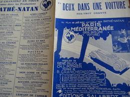 Partition Ancienne PF Deux Dans Une Voiture Annabella Rene Pujol Pothier 1932 - Partitions Musicales Anciennes