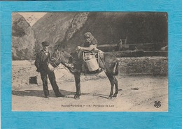 Les Pyrénées En 1907. - Porteuse De Lait, Âne. - Francia
