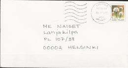 Finland 1993 Cover With Mi 1217 Marsh Labrador Tea, Cancelled Helsinki 30.9.93 - Finlande
