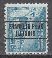 USA Precancel Vorausentwertung Preo, Locals Illinois, Franklin Park 263 - Vereinigte Staaten