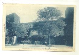 34 ADISSAN COUR INTERIEURE DU CHATEAU VICARY SABATIER EDITEUR LYSON HERAULT - France
