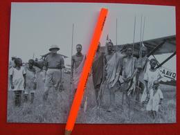 FOTOGRAFIA MALAKAL(SUDAN)1930 CONTE MAZZOTTI Davanti Ad AEREO - Aviation