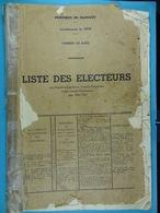 Liste Des électeurs De Rance De 1960 à 1962 - Documents Historiques