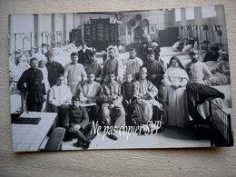 Guerre 14-18 PARIS HOTEL DIEU Hôpital Militaire CARTE PHOTO Salle N°2 Groupe Bléssés  Chirugiens Infirmières  Déc 1915 - Guerra 1914-18