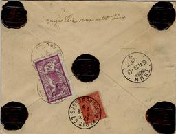1928- Env. CHARGE De Paris-67 V D 300f. Pour La Suisse - Affr. Au Dos De 3,50 F Dont Merson 3 F - Marcophilie (Lettres)