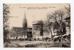 - CPA CAEN (14) - Boulevard St-Pierre - Le Marché - Tour Leroy - Edition G. Livet N° 77 - - Caen