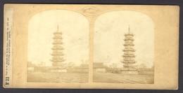 China ± 1850, LOUIS LE GRAND PHOTO PAGODA SI-KA-OUAI, RARE - Stereoscoop