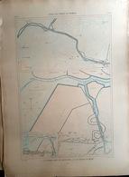 85 GRAND PONT BEAUVOIR BARRE DE MONT  PLAN DU PORT ET DE LA VILLE  EN 1882 DE L'ATLAS DES PORTS DE FRANCE 49 X 67 Cm - Cartes Marines