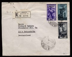 A6066) Italien Italy R-Brief Trieste 18.03.52 AMG-FTT N. Oebisfelde / Germany - 1946-60: Gebraucht